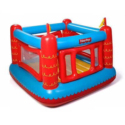 Inflatable Castle - Fisher-Price Bouncetastic Inflatable Castle Bouncer With Removable Mesh Walls