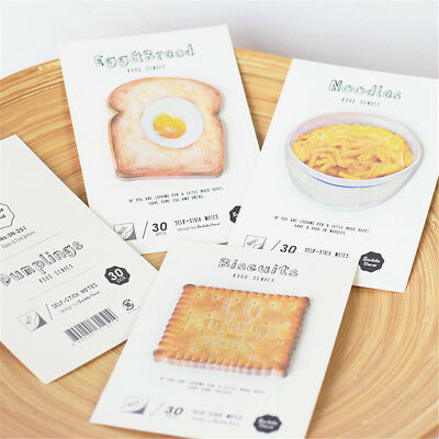 Cute Imitation Food Memo Pad Sticky Paper Sticker Notepad Kawaii Stationery