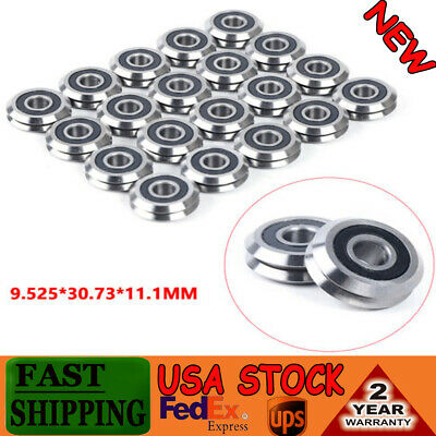 20pcs Rm2-2rs V Groove Sealed Ball Vgroove Bearing 38 9.525mm Light Durable