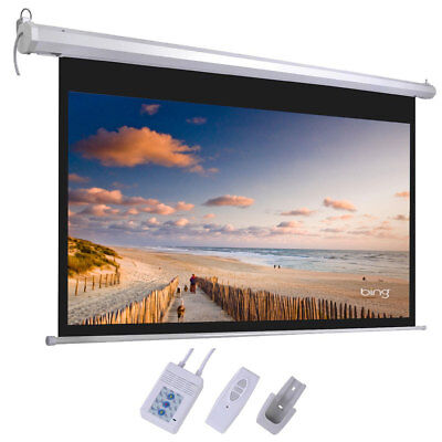 92 Inch 169 Hd Electric Motorized Projector Screen Remote Control Projection Us