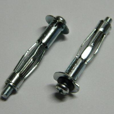 25 Stk. Hohlraumdübel 5x58 Metall verzinkt mit Schraube NEU