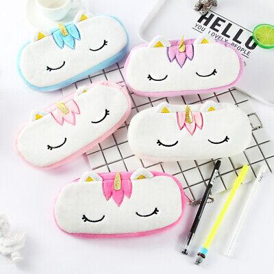 Cute Unicorn Plush Pencil Case Kids Coin Pouch Storage Zipper Purse Makeup Bag](Kids Pencil Case)