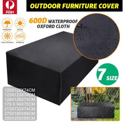 Garden Furniture - Outdoor Waterproof Furniture Cover Patio Garden Rain Snow UV Table Sofa Couch
