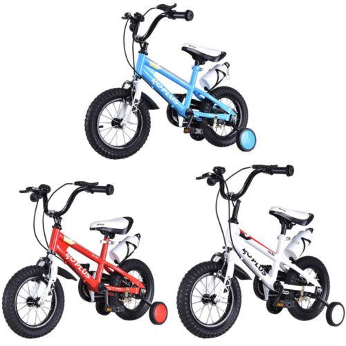 "12"" Freestyle Children Unisex Bicycle W/ Training Wheels Kids Best Gift US"