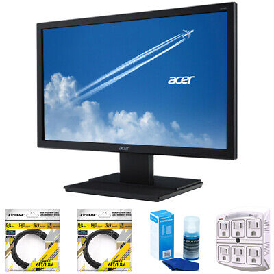 "Acer 19.5"" LED Backlit HD LCD Monitor Black UM.IV6AA.A02 with Cleaning Bundle"