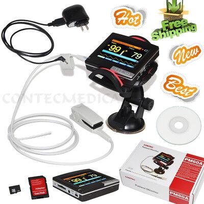Contec Pm60a Portable Spo2 Heart Rate Patient Monitor Finger Pulse Oximeter Usb