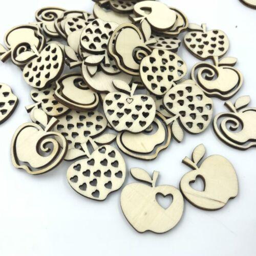 Natural color Mixed Hollow Apple Decoration Handicrafts Scrapbooking DIY 28mm