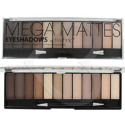Technic Eyeshadow Mega Matte Nude Palette 12 Shades Naked Natural Eye Shadow