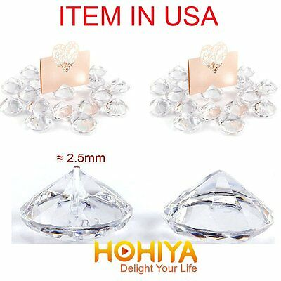 20x Acrylic Crystal Photo Place Card Holder Wedding Favours Table Number Decor