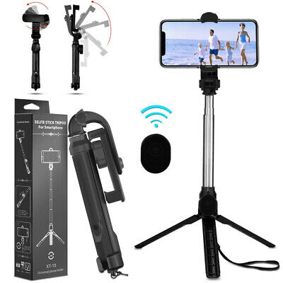 For iPhone 11 Pro Max/XR/XS/8/7/6 Selfie Stick Extendable Wireless Remote Tripod