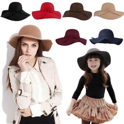 Girls Floppy Sun Hat (Cute Khaki Girls Summer Sun Floppy Hat Felt Caps Wide Brim Beach Hat Lot)