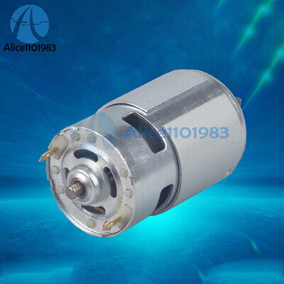 Dc 12v High Speed Motor 775 12000rpm Large Torque Ball Bearing Shaft Tools