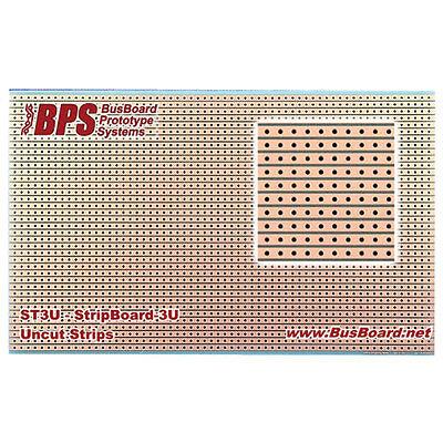 Busboard Prototyping St3u Stripboard Uncut Strips 1 Sided Pcb 3.94 X 6.30