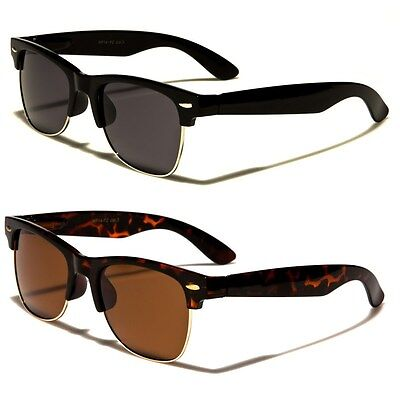 Polarized Classic Vintage Sunglasses Mens Womens Metal Half (Sunglasses Vintage Man)