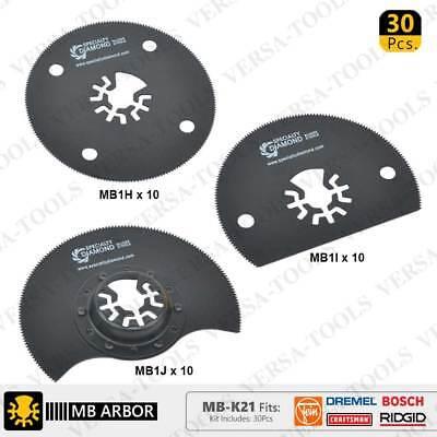 30pcs 80mm Circular, Semi-Circular Saw Blade Kit for Fein, D