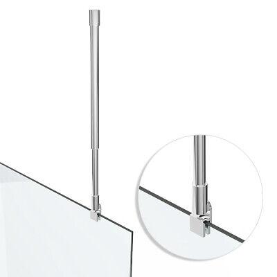 Glaswand Halter Stange Deckenhalter Stabilisator Duschwand 400-780 mm HS14