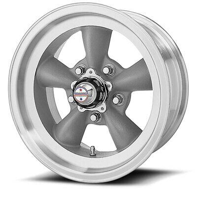 American Racing 15x6 VN105 Torq Thrust D Wheel Gray Machined 5x4.5/5x114.3 +4mm