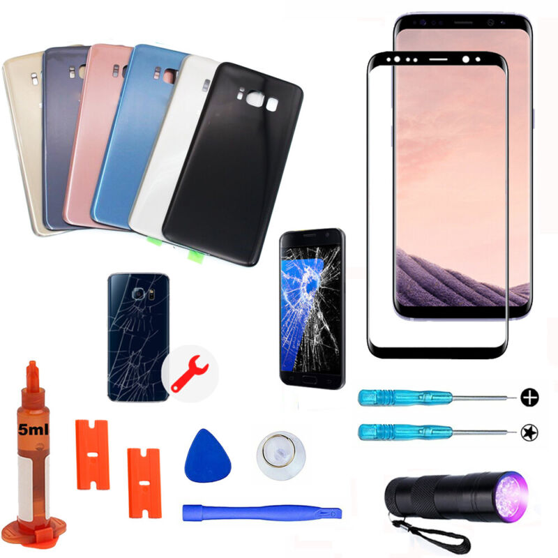 For Samsung Galaxy S8 S8+ OEM Front Screen Glass Back Replac