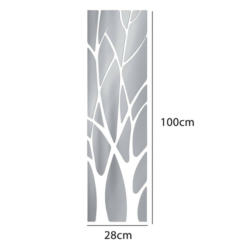For Home Mirror Tile Wall Sticker Removable Self Adhesive Bathroom Stick On Art Decals, Stickers & Vinyl Art