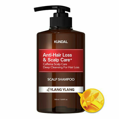 KUNDAL Anti-Hair Loss&Scalp Care+ Shampoo 500ml [Ylang Ylang] K-Beauty