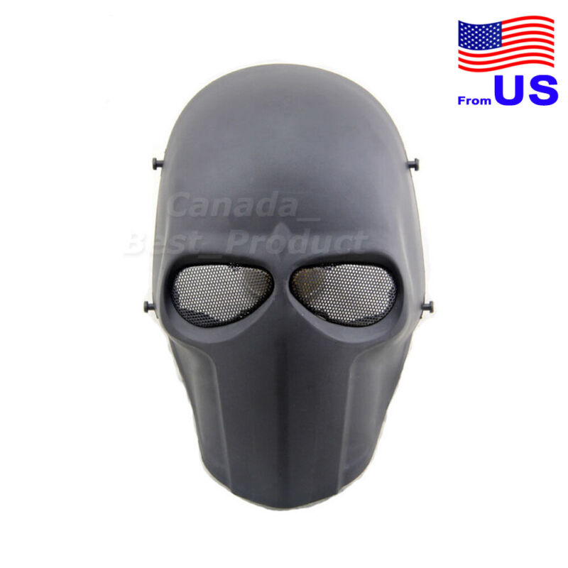 New Tactical Airsoft Paintball Cosplay Outdoor Full Face Protective Mask BK USA