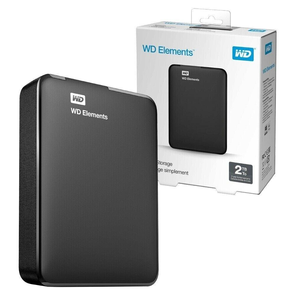2TB Western Digital Elements Portable USB 3 0 External Hard Drive 2TB  Capacity | in Hockley, West Midlands | Gumtree