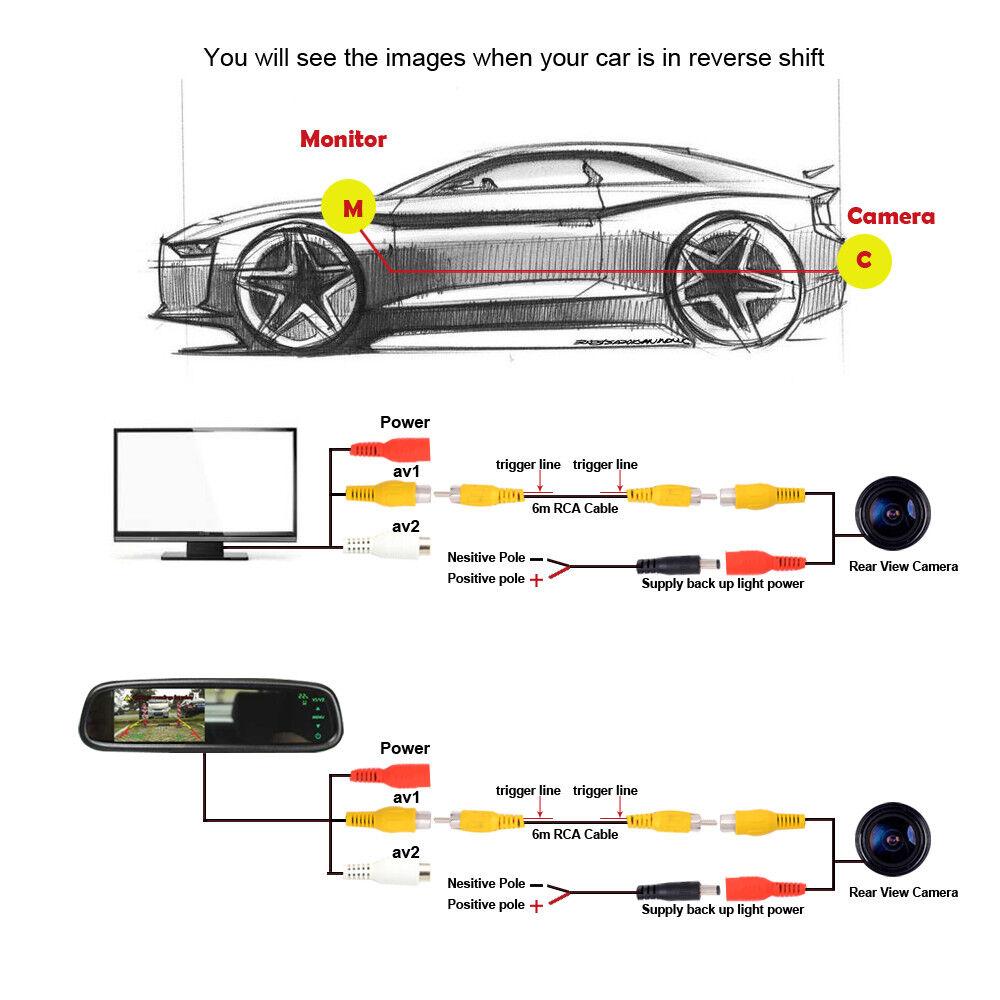 2020 Toyota Yaris Hatchback: For Toyota Yaris Hatchback 2018-2020 LED CCD Car Rearview