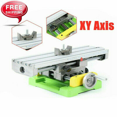 Xy 2-axis Compound Milling Machine Work Table Cross Slide Bench Drill Vise