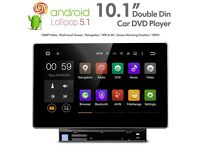 10.1 Inch HD Android Double Din Car DVD Player Stereo With GPS USB SD Aux & Phone Screen Mirrorring