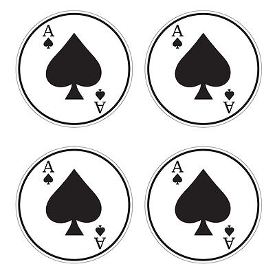Baseball Softball Bat Knob Decal Set - Baseball Bat Decal - Ace of Spades