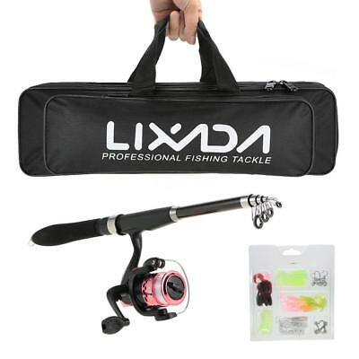 Lixada Angelausrüstung Kit Portable Lure Rod Reel-Set  Angelrute
