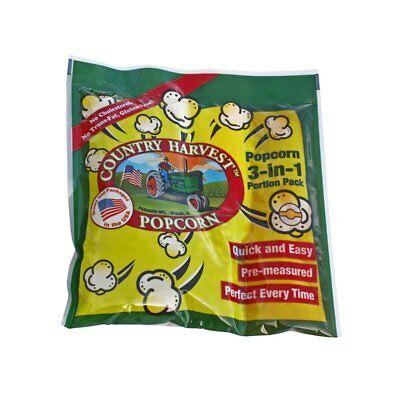 Paragon Popcorn Country Harvest Tri-pack 8oz. Portion Pack Regular Case 24 Count