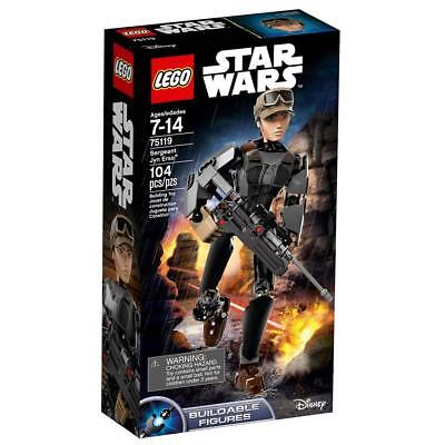 NIP Lego Star Wars 104pcs. SERGEANT JYN ERSO Buildable Figure Item 75119 Disney