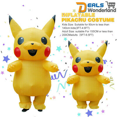 Erwachsene / Kinder POKEMON Pikachu aufblasbares Kostüm Cosplay lustiges Kleid - Cosplay Pokemon Kostüm