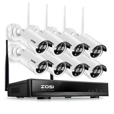 ZOSI 8CH Wireless HD 960P NVR Funk Überwachungssystem WLAN IP Überwachungskamera