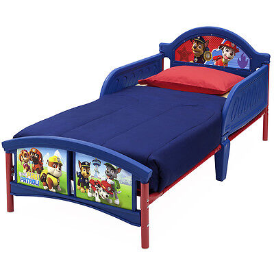 Paw Patrol Toddler Bed, Kids - Infant Bed with Protective Side Guards