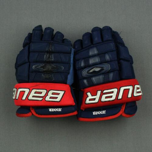 "Used Bauer Nexus 1N Boone Jenner Pro Stock 14"" Hockey Gloves! Blue Jackets CBJ"