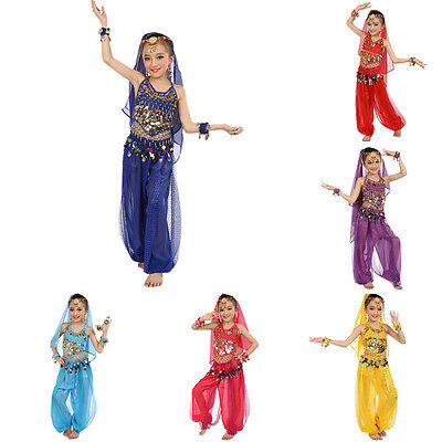 Kids Girls Professional Indian Dance Belly Dance Halloween Performance Costumes ()