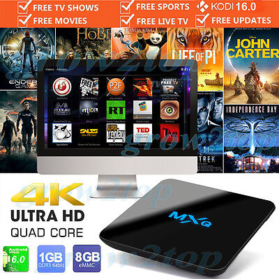 2017 MXQ PRO 4K Quad Core Android 6.0 TV Box Fully Loaded KODI XBMC Media Player