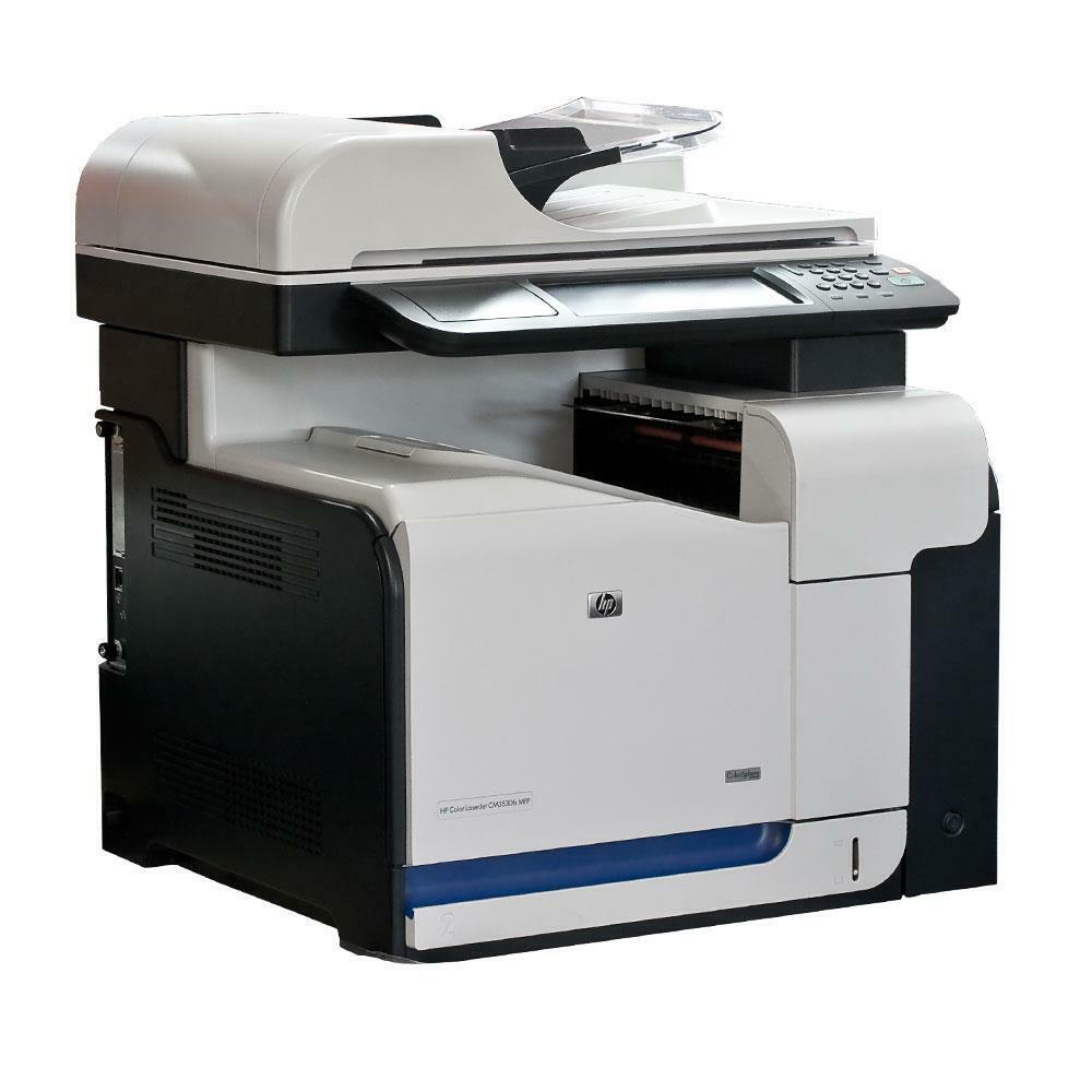 Hp color laserjet cm3530fs imprimante multifonction couleur + lan usb duplex +
