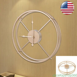 Beautiful Wall Clock Art Metal Round Industrial Home Decor Office Antique