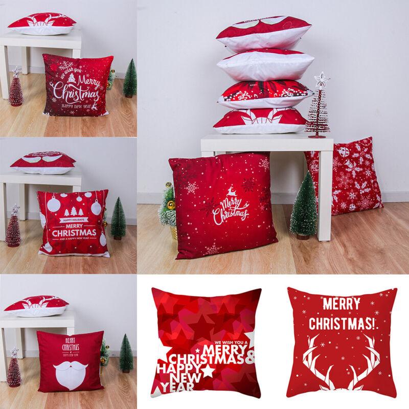 Soft Sofa Waist Home Decor Christmas Pillowcase Merry Xmas S