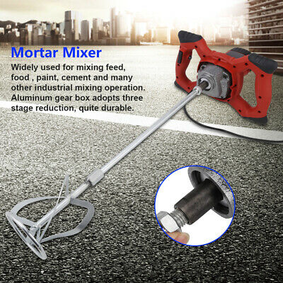 Best Electric Mortar Mixer 1600w Dual High Low Gear 6 Speed Paint Cement Grout
