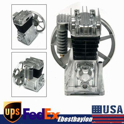 250lmin 3hp Piston Cylinder Air Compressor Pump Motor Head Air Tool W Silencer