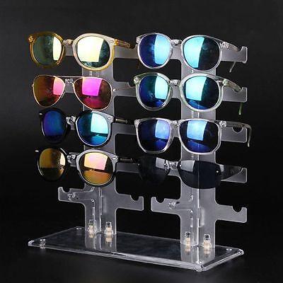 2-reihiges 10 Brillen Regal Design Brillenständer BrillenhalterAblage Neu WF