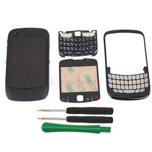 New Replacement Full Housing Cover Case for BlackBerry 8520 Black UK