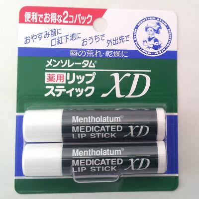 2 set of Japan-Mentholatum-MEDICATED-Balm-Lip-Stick-XD from Japan F/S