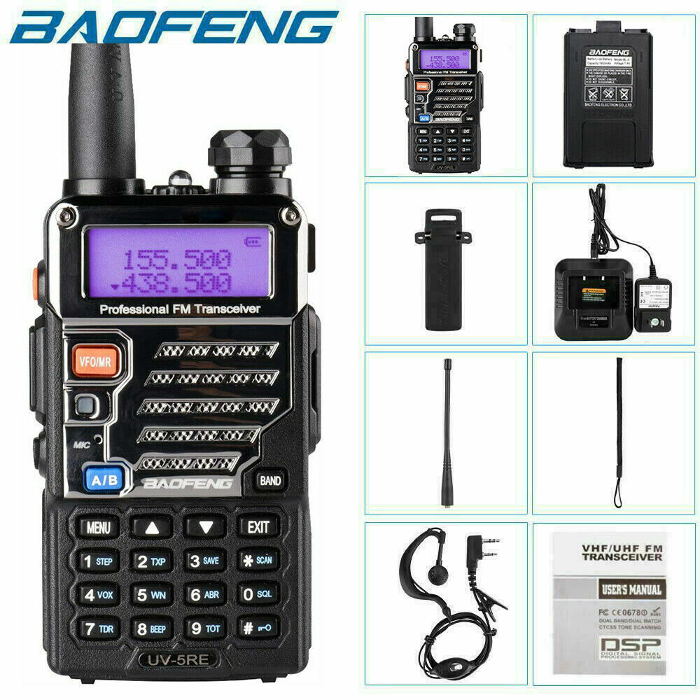 Handheld Radio Scanner Two Way Police Fire Ham Portable Transceiver Antenna