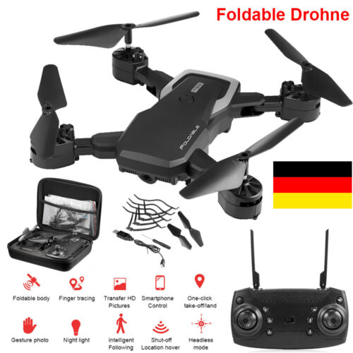 Faltbar Drohne mit HD 1080P WIFI 4K KAMERA FPV Video APP Quadcopter Quadrocopter