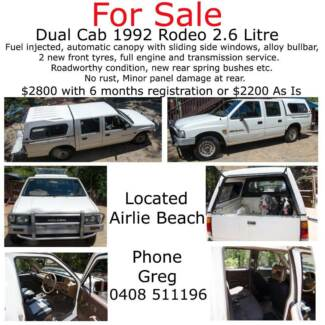 1992 Holden Rodeo Airlie Beach Whitsundays Area Preview
